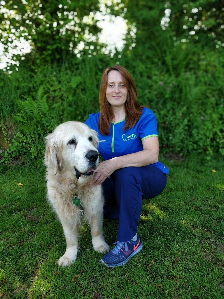 Kirsty Cavill and her dog