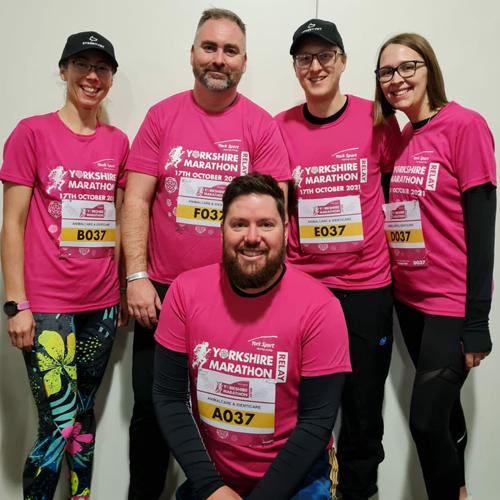 £900 raised for Street Vet by Animalcare/Identicare Yorkshire Marathon Relay Team